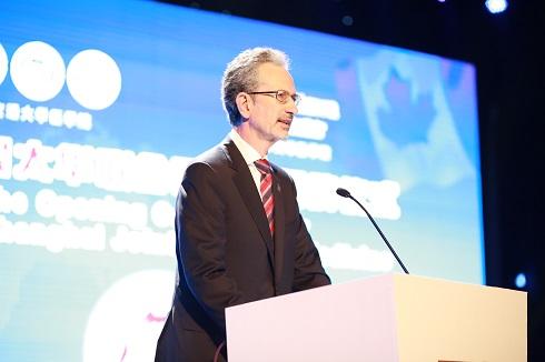 Jacques Bradwejn sur scène à Shanghai à l'événement de l'an dernier pour célébrer le OSJSM.