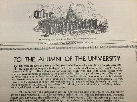 La première édition du Fulcrum, en février 1942.