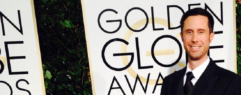 Benoit Landry sur le tapis rouge des Golden Globes.