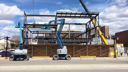 La Nouvelle Scène building under construction.