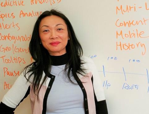 Mina Lux est fondatrice et PDG de Meelo Logic, une société qui recourt aux données numériques pour analyser la performance de diverses marques par rapport à leurs concurrents.