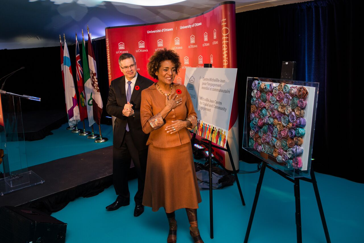 Michaëlle Jean at the ceremony.