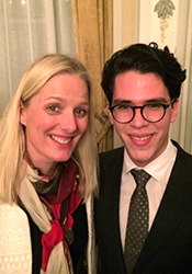 Catherine McKenna and Elias León smiling.
