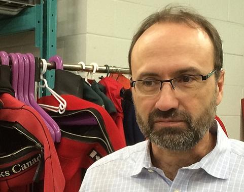 Marc-André Bernier, chef du Service d'archéologie subaquatique de Parcs Canada, dans les laboratoires de Parcs Canada à Ottawa.