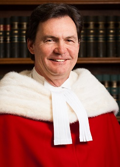 Justice Richard Wagner in his Supreme Court robes