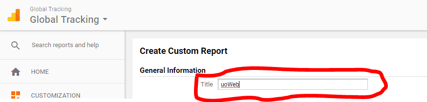 Report's title